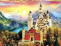 大人と子供のための美しい城のパズル500ピース教育玩具ゲーム脳