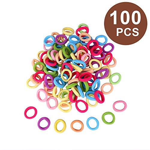 100 Stücke Elastische Haargummis Haarband Mini Haarbänder Kleine Gummibänder Mehrfarbig Mädchen Pferdeschwanz Inhaber für Baby Kinder