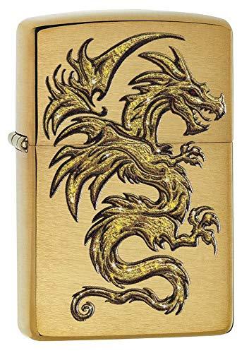 Zippo Feuerzeug Dragon, Unisex, 29725, Messing, Regular