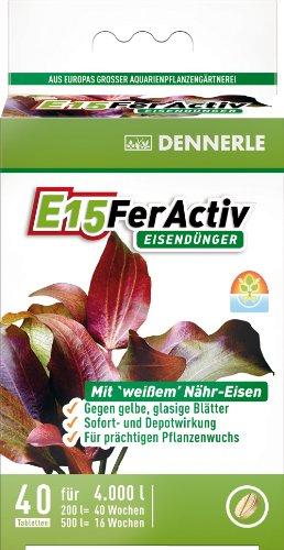 Dennerle 4470 E15 FerActiv Eisendünger für Aquarienpflanzen, 40 Stück