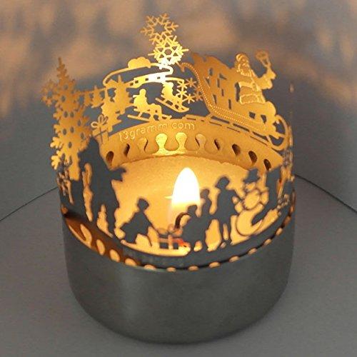 13gramm Merry Christmas Schattenspiel, wunderschön, Super Minigeschenk und Mitbringsel, für Teelicht, unbegrenzt wiederverndbar,günstiger Postversand, Adventskalenderfüllung,Wichtelgeschenk,Grußkarte