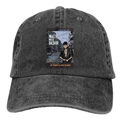 FUGVO Sombreros Personalizados Impresos con gráficos Vals Negro con Sombrero de Vaquero Casquette Talla única de Bashir