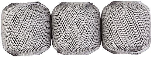 DARUMA 絹のレース糸 レース糸 #30 Col.10 グレー 系 20g 約148m 3玉セット 01-2120