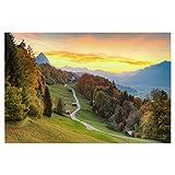 artboxONE Poster 90x60 cm Natur und Naturfotografie Natur Wamberg Garmisch-Partenkirchen - Bild Wamberg Bayern Berge