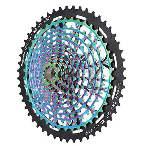 V GEBY Accessorio per Ciclismo 9-50T con pignone a Ruota Libera MTB a Rapporto Largo a Cassetta(12Speed 9-50T)