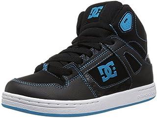 DC Boys' Pure HIGH-TOP Skate Shoe Black/Hawaiian Ocean 2 M M US Little Kid [並行輸入品]
