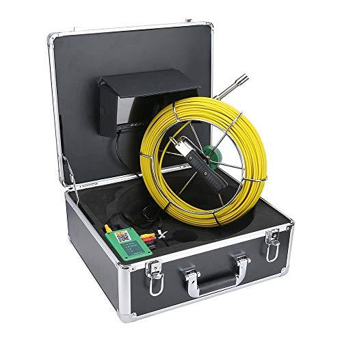 7 Pollici 17mm 17mm Pipeline Industrial Sewer ISPEZIONE Camera IP68 Impermeabile Rilevamento Scarico 1000 TVL Telecamera DVR Funzione di Registrazione DVR 8 Luci a LED,30m