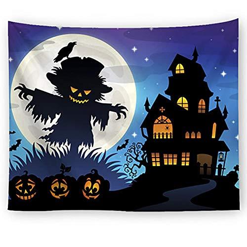 Tapiz de pared de Halloween con impresión de Halloween, tapiz creativo, manta de pared, tapiz para decoración del hogar para dormitorio, sala de estar #13