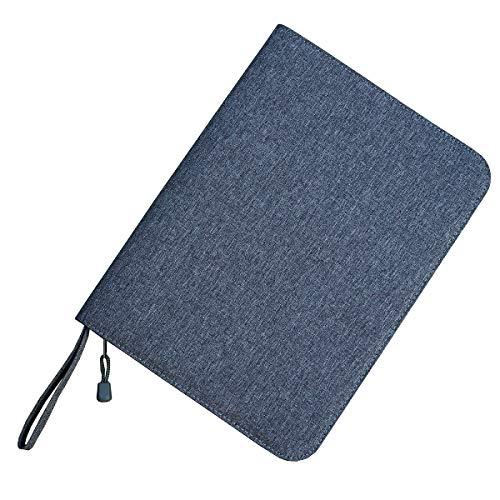48 Fountain Pen Case Gray Organizer Bag, Waterproof Canvas Pen Display Holder with YKK zipper