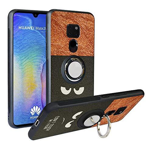 Alapmk Huawei Mate 20 Cover, [Pattern Design] con Regolabile 360 Magnetica per Auto, Morbido TPU Protettiva Resistente Ai Graffi Case Cover per Huawei Mate 20, Do Not Touch