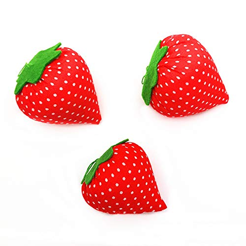 3PCS Cute Sewing Pin Cushions Needle Pincushions Pin Cushion Needle Pin Cushion Holder Sewing Accessories with Strawberry Shaped for Needle Storage Needlework Sewing Embroidery DIY Sewing Craft