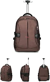 TYUIO Backpack with Wheels, Freewheel Wheeled Laptop Backpack, High School, College Backpack, Rolling Laptop Bag, Business Backpack, Travel Backpack, Carry-on Bag Backpack Men and Women,19 inches