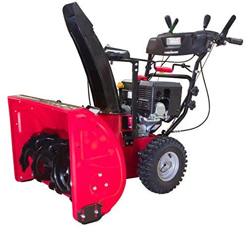 PowerSmart DB7126 2 Stage Gas Snow Blower, red, Black