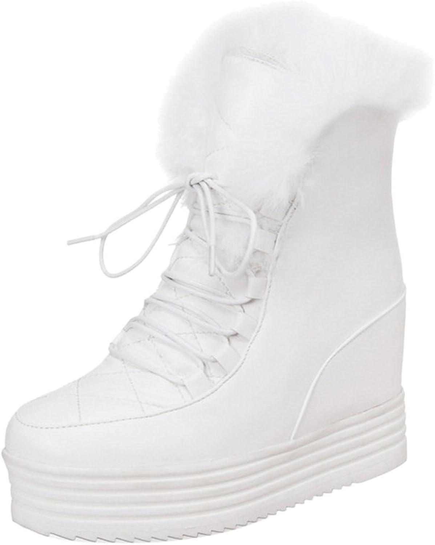TAOFFEN Women Warm Boots Hidden Heel