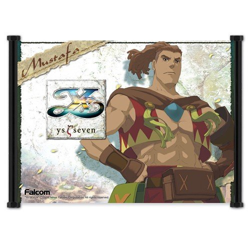 "Ys Seven Game PSP Fabric Wall Scroll Poster (21""x16"") Inches"