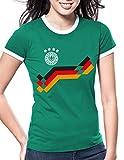 Luckja EM 2016 Trikot Deutschland Fanshirt Motiv 20 Damen Rundhals T-Shirt