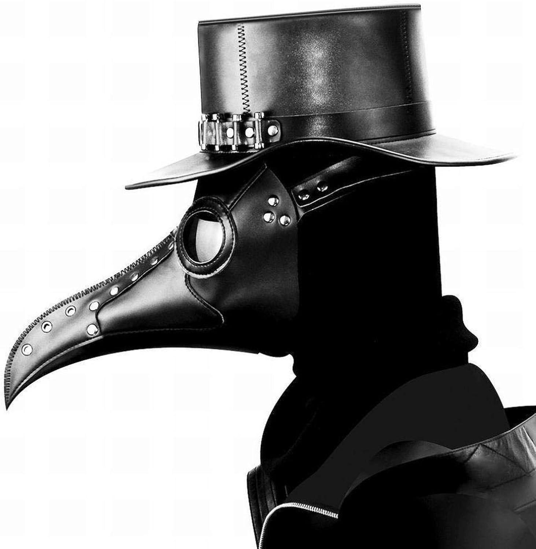 JIE Halloween Steampunk Pest Schnabel Maske Maske Venezianischen Maske Karneval,black,1
