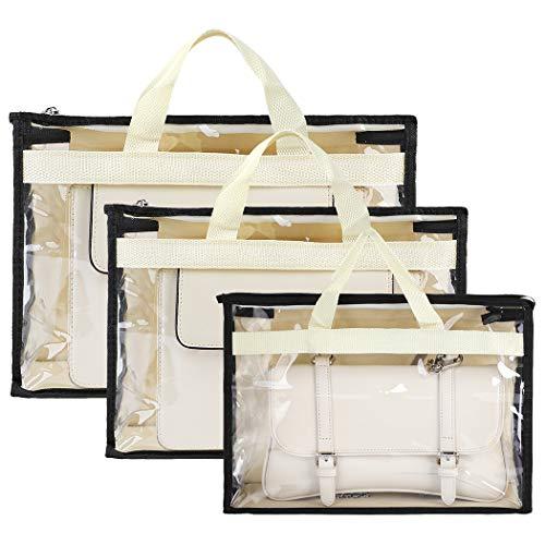 COOFIT Handtaschen-Aufbewahrung, 3 Stück, Handtaschen-Organizer, Staubschutzbeutel, Handtaschen-Aufbewahrungstasche für Handtasche.