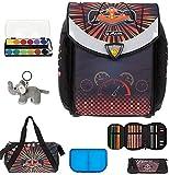 7 Set HERLITZ Flexi Plus Schulranzen Ranzenset Schultasche Mäppchen gefüllt + Sporttasche elk (Formula1 (22))