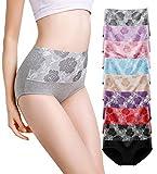 YOULEHE Unterhosen Damen Baumwolle Hohe Taille Weich Atmungsaktiv Unterwäsche (8er Pack-Mehrfarbig 02, xx_l)