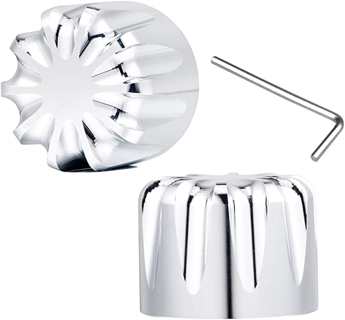 """AVON Axle Nut Covers//Caps 1/"""" GATLIN Chrome one pair for H-D Motorcycles"""