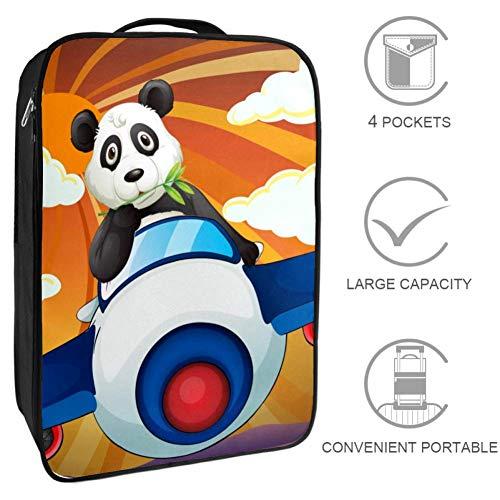 Bennigiry Panda Flugzeug-Reisetasche für Schuhe, tragbare Aufbewahrung, Organizer für Golf, Weekender, Schuhe, Taschen für Damen und Herren