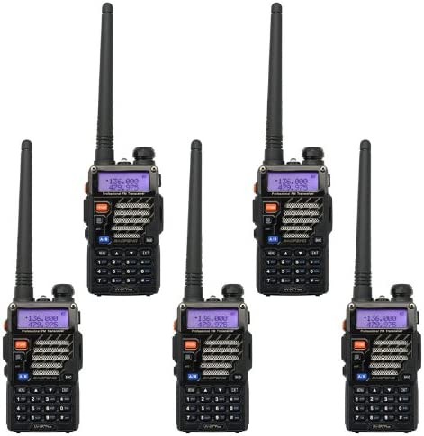 5PCS BAOFENG UV-5R+Plus Dual-Band Two depot L Way Radio List price with Earpiece