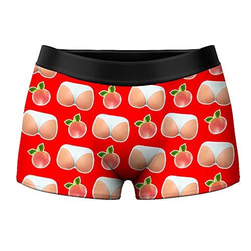 VEELU Personalisiert Herren Boxershorts Unterwäsche Unterhose mit Bilder Foto Funny Boxer Multi-Farbe atmungsaktiv Lustiges Geschenk für Men Männer Freund
