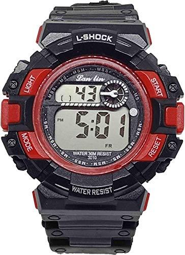 M.H Kids Sports Watch, Multi Function Digital Kids Watches Waterproof LED Light Wristwatches for Boys Girls (Black)
