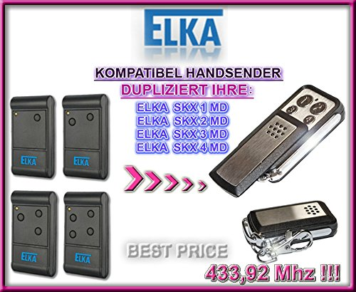 ELKA SKX1MD, SKX2MD, SKX4MD, SKX6MD kompatibel handsender, klone fernbedienung, 4-kanal 433,92Mhz fixed code. Top Qualität Kopiergerät!!!
