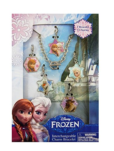 Disney Kids Euroswan WD92094 Ensemble Bracelet et Collier Motif Frozen