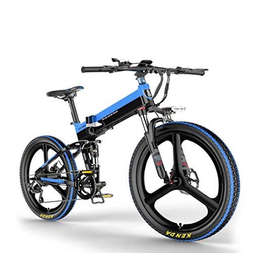 ZH 26 Zoll Elektrofahrrad mit 400 W 48 V 10.4Ah Lithiumbatterie Faltbares Elektrofahrrad, Shimano 8 Geschwindigkeiten Klapprad E-Bike für Erwachsene, Herren Damen.