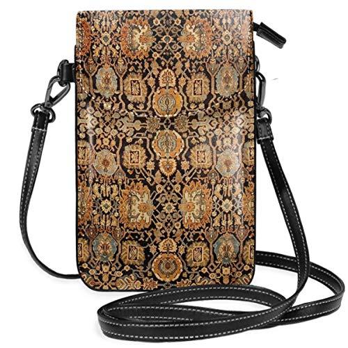 Liliylove Antiguo malayador persa alfombra ligera pequeña bandolera bolsas teléfono celular cartera...