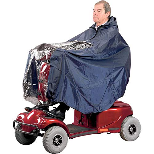 Universal Fit Hooded Waterproof Poncho for Mobility Scooter