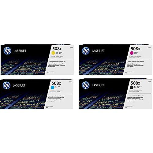 4X Original XL HP Toner CF360X CF363X 508X fur HP Color Laserjet Enterprise M 553 DN Black Cyan Magenta Yellow Leistung BK ca 12500 SeitenFarben ca 9500 Seiten5