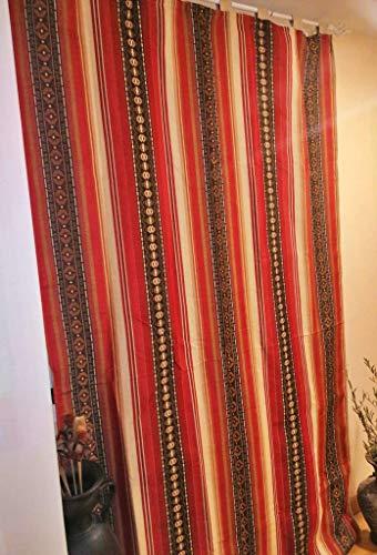 Mercatienda.es Cortinas de Calle Rayas Rojas,alpujarras de travillas, para Interior y Exterior del Hogar.