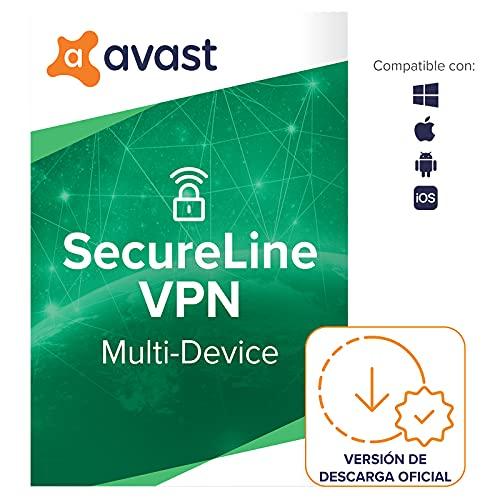 Avast SecureLine VPN - Conexión VPN para proteger la privacidad - Software para descargar | 5 Dispositivo | 1 Año | PC Mac | Código de activación enviado por email