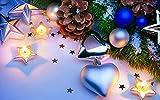 Damuiyans DIY 5D Diamond Painting Kit Completo Punto de Cruz Diamante, 40x50cm,Pintar con Diamantes Kits,Cuadro de Diamantes Manualidades para Decoración de Pared-Navidad