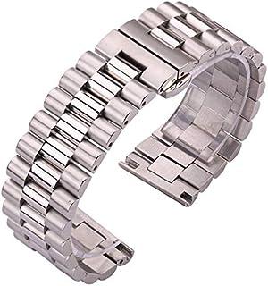 DFKai1run Correa de Acero Inoxidable, Correa de Acero Inoxidable 22 mm 21 mm 20 mm 18 mm 16 mm Reloj de Metal Mujeres Muje...