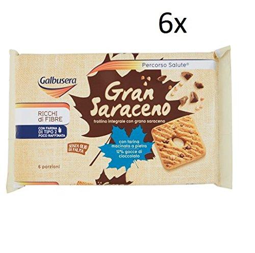 6x Galbusera grano saraceno integrale Vollkorn kekse Buchweizen 260g kuchen