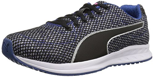 PUMA Women's Burst TECH WN's Cross-Trainer Shoe, True Blue Black White, 7 M US