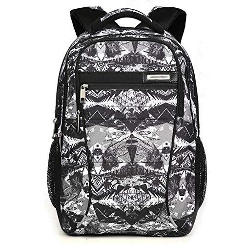 ZXL heren rugzak Business Bag vrijetijdstas schooltas laptoptas reistas, grote capaciteit gelaagde multibag 6 soorten verkrijgbaar 34,5 * 19 * 47,5 cm Camouflage gray/zwart