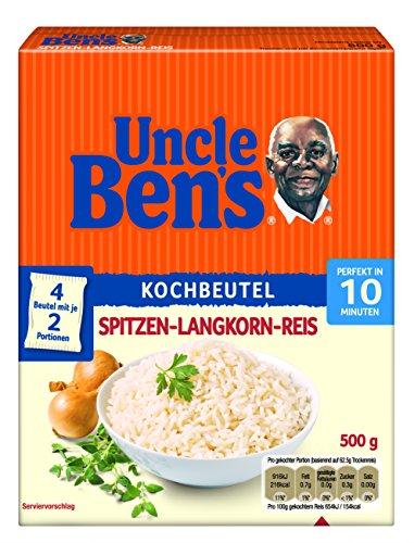 Uncle Ben's® Bolsa de cocina de 10 minutos de Spitz-Langkorn-Reis, 4 unidades (4 cajas de 500 g)