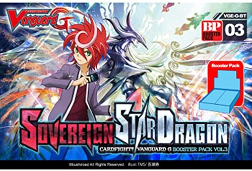 Bushiroad VGE-G-BT03 - Cardfight, Vanguard G Sovereign Star Dragon Booster Display, 30-er Pack, Kartenspiel Englisch