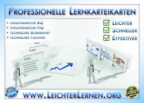 Lernkarteikarten Industriemeister Basisqualifikation (BQ) 265 Fragen und Antworten Betriebswirtschaftliches Handel (BWH)
