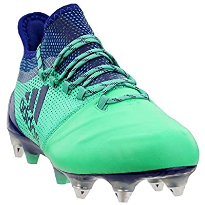 adidas Mens X 17.1 Soft Ground Leather Soccer Casual Cleats, Green, 10