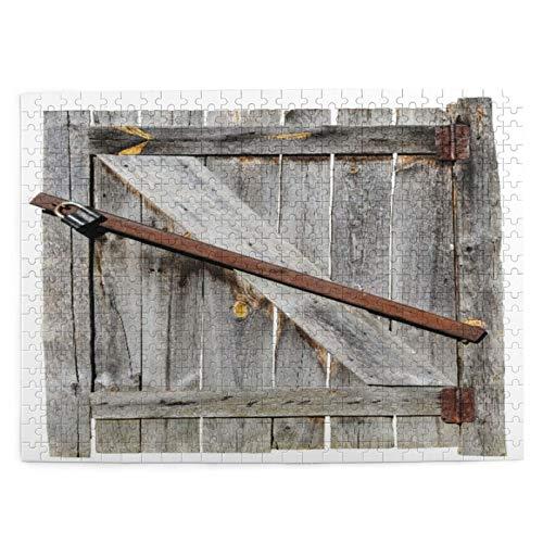 500 piezas puzzles para niños 52*38 cm madera puerta vieja juguete de madera regalo para niña niño niños adultos