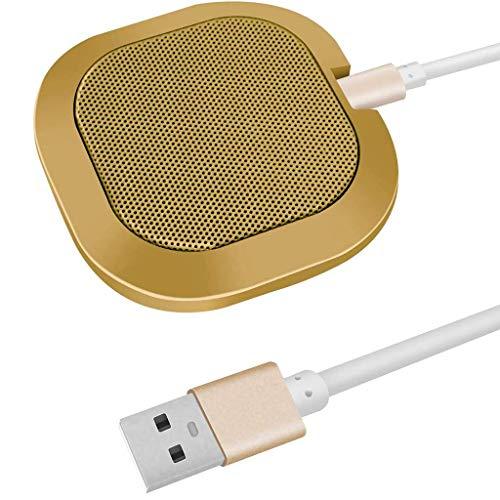 WLGQ Micrófono de Conferencia, micrófono de computadora USB, micrófono omnidireccional para computadoras PC, micrófonos de Escritorio con límite de Condensador para transmisión, Llamadas VoIP, SK