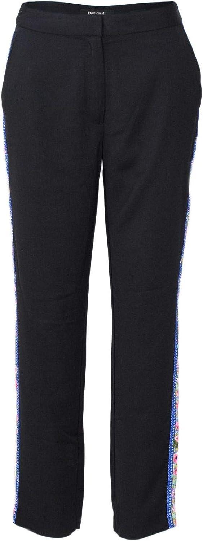 Desigual Women's 18WWPW03BLACK Black Polyester Pants