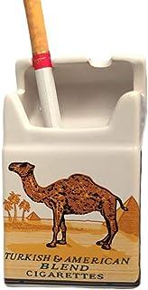 Nyrwana Ceramic Cigarette Box Shape Ashtray (4 inch x 2.4 inch x 1.6 inch, Brown)